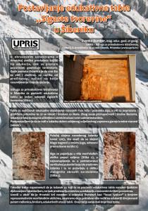 """Poster: Postavljanje edukativne table """"Sigaste tvorevine"""" u Šibeniku"""