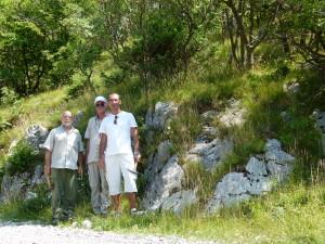 S lijeva na desno: Josip Halamić, Mirko Belak i Zvonko Bumber