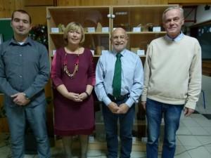 Predsjednik UPRIS-a Zvonko Bumber, ravnateljica škole Bojana Matešin, ravnatelj HGI-a Josip Halamić i njegov kolega Mirko Belak
