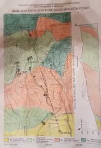 Geološka karta dijela Medvednice