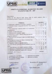 Primjer ankete - Zadar